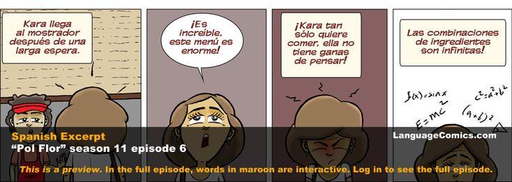 Inglés ~ El sandwich   El sandwich – S11e6   – Episodios comics