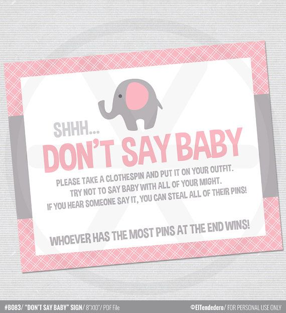 It is a graphic of Selective Don't Say Baby Printable