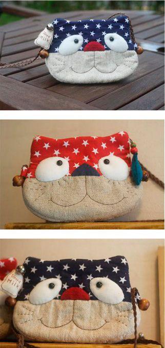 Детская сумочка в форме котика — Выкройки игрушек, детских платьев