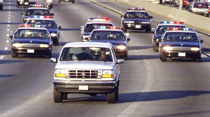On June 17, 1994, television networks and cable news channels aired two hours of nonstop coverage of perhaps the most famous car chase to have ever taken place on Los Angeles freeways: O.J. Simpson in a white Ford Bronco.