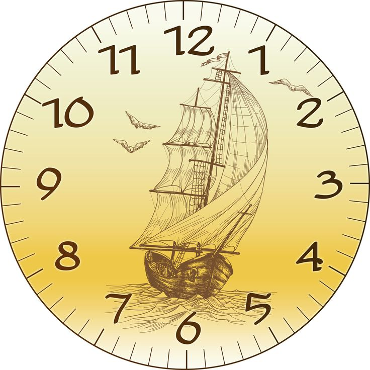 Best Clocks Decoupage Images On   Clock Faces Wall