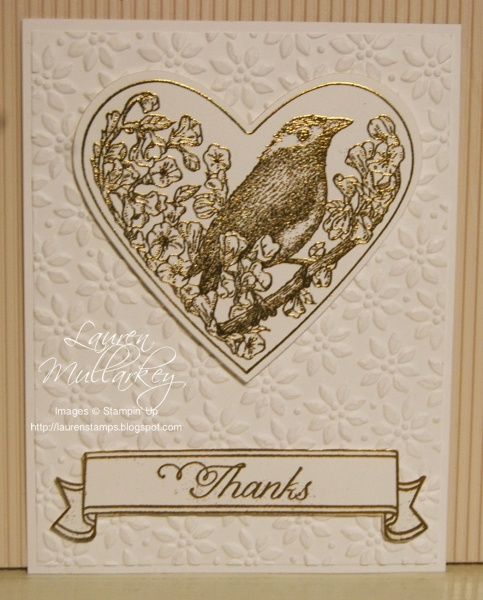 stampin up~take it to heart card
