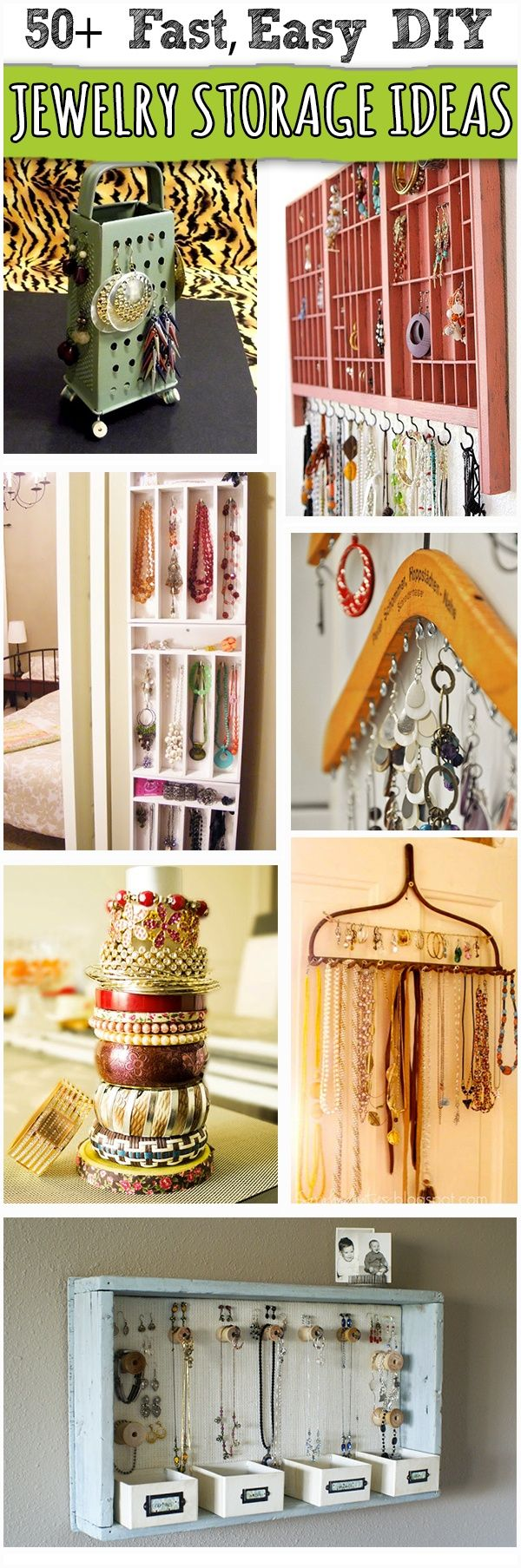 Over 50 Creative DIY Jewelry Storage, Organization, Display