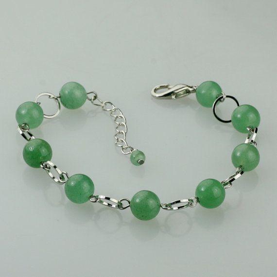 Jade link bracelet handmade ani designs on Etsy, $12.95