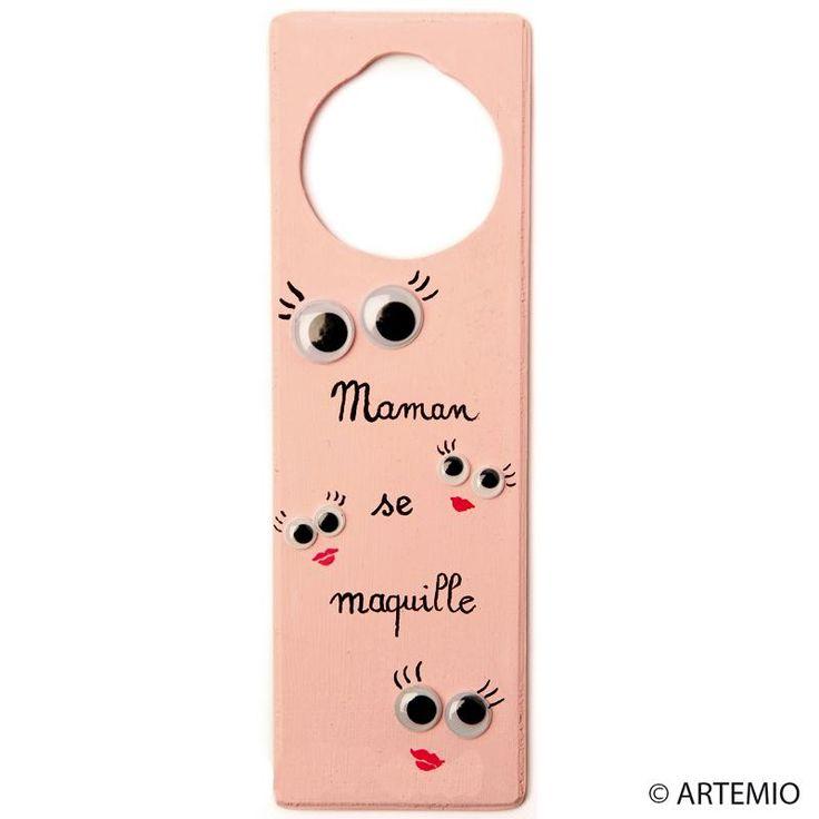 Personnaliser une plaque de porte pour Maman coquette