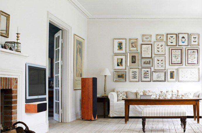 Как правильно повесить картины на стене