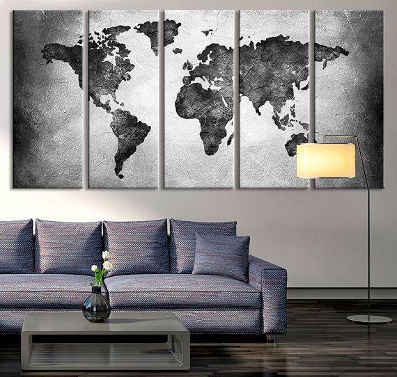 Sala de estar para quem ama viajar