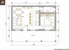 Casa 1 Quartos - 52m²                                                                                                                                                     Mais