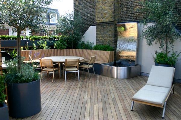 Sichtschutz für Terrassen – coole und herrliche Bilder von Terrassen Designs - sichtschutz terrasse holz auflage liege