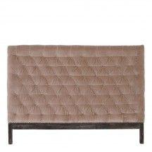 HAZEL velvet upholstered headboards from MOLLYSHOME.COM for a luxurious bedroom feel. More colours available!