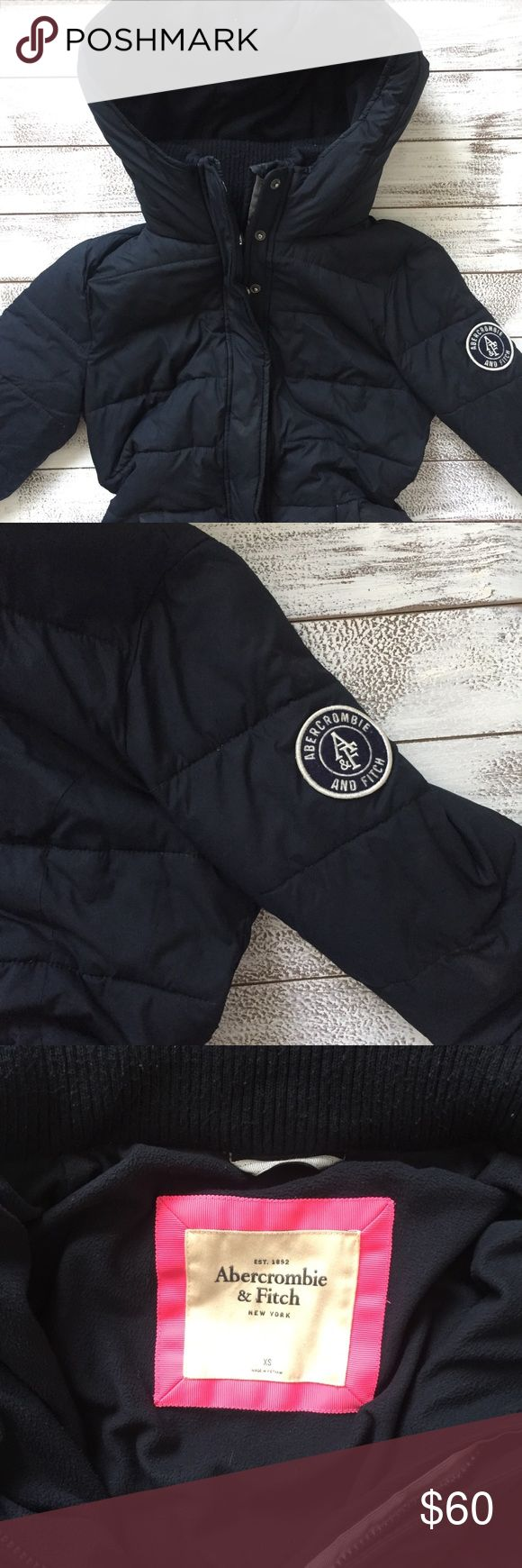 ABERCROMBIE AND FITCH PUFFER JACKET Abercrombie and Fitch navy puffer jacket. Size XS. Navy color. Made in Vietnam. Good used condition. Abercrombie & Fitch Jackets & Coats Puffers