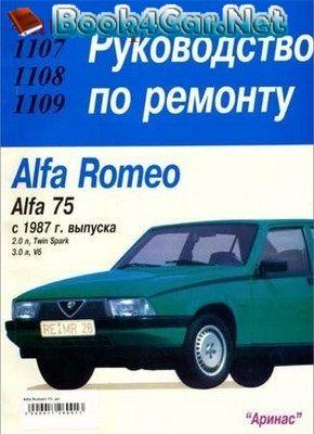Download free - Alfa Romeo 75 (1987) руководство по ремонту: Image:… by autorepguide.com