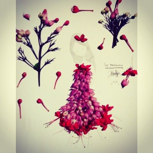 #design #fashion #flower #kawaii #girl #instapict #red #purple #green #lovely (at Depok Sleman Yogyakarta)