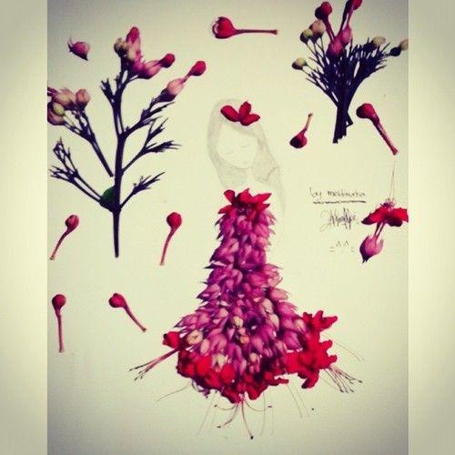 #design #fashion #flower #kawaii #girl #instapict #red #purple #green #lovely (at Depok Sleman Yogyakarta)