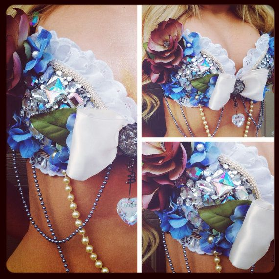 My Rave bras are one of a kind gorgeous and by AddALittleGlitz