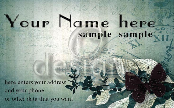 Digital Business Calling Card Elegance Template No 7