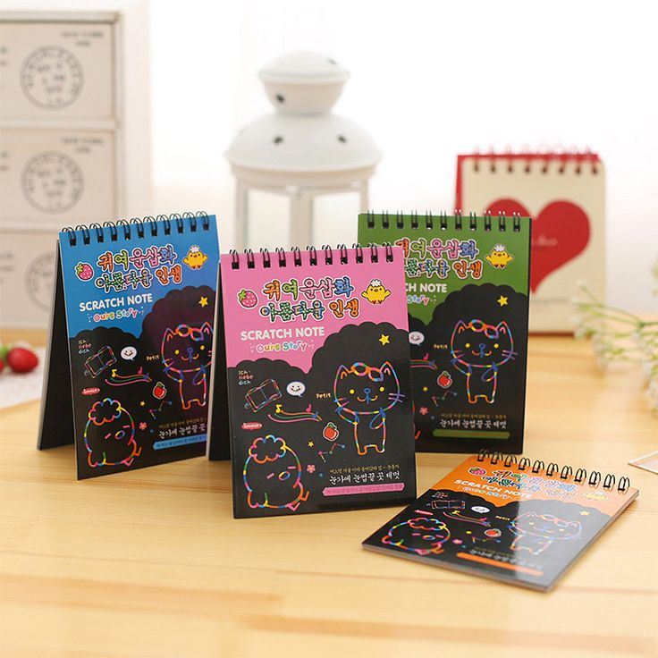 The color painting graffiti YL0151 hand-painted scratch  notebook DIY fun magic scraping coating painting