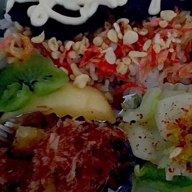 揚げ玉、干し海老のせ - 27件のもぐもぐ - パパお弁当 数の子おかか和え、ツナマヨ海苔弁当、白菜の浅漬け、林檎、キウイ、梅干し by ch*K*∀o(^^*)♪
