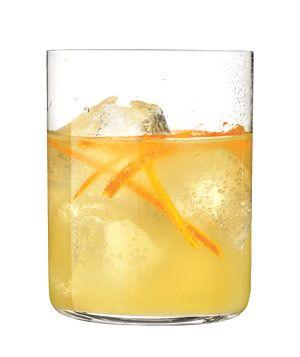 Bourbon and Orange Smash - orange zest (thinly sliced), sugar, bitters, fresh orange juice, club soda & bourbon
