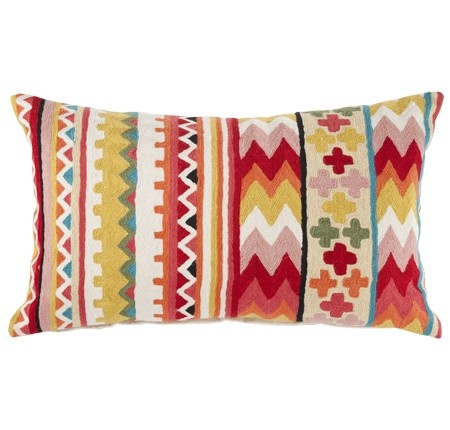 Fabulous colourful stitched cushion