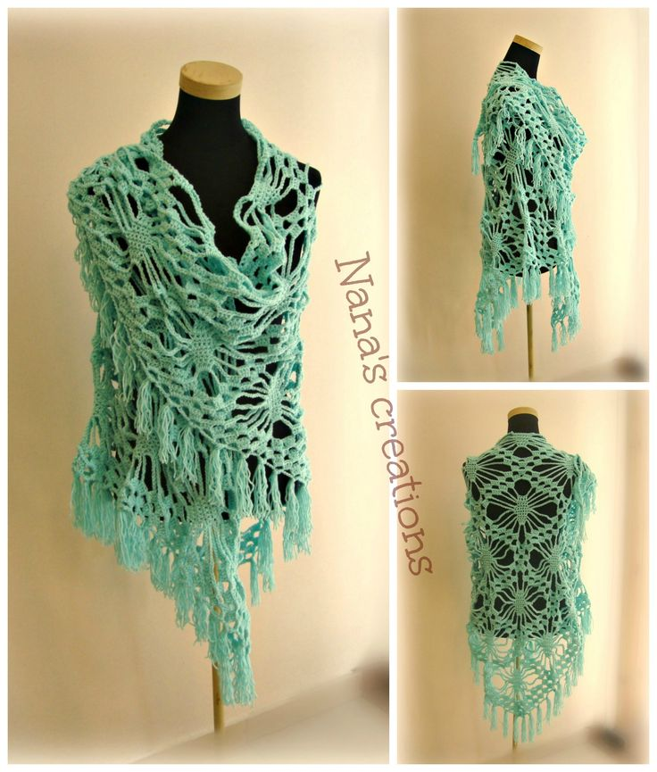 Handmade croche swal for Spring
