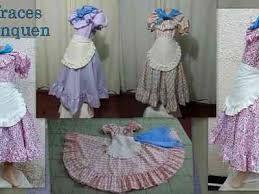 Resultado de imagen para como hacer un vestido de paisana argentina