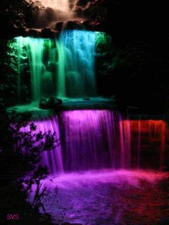 Cute Moving Wallpapers For Phone Animated Rainbow Waterfall Water Colourful Cool