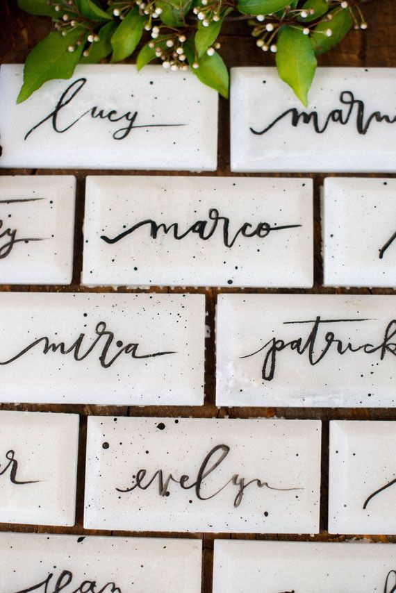 Tile escort cards | Wedding & Party Ideas | 100 Layer Cake