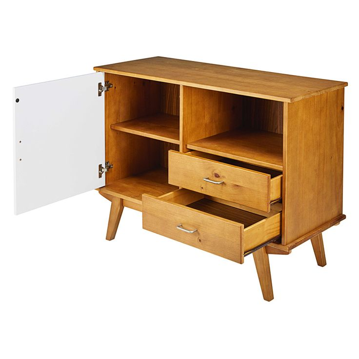 Pine 1-door 2-drawer tall ... - Paulette