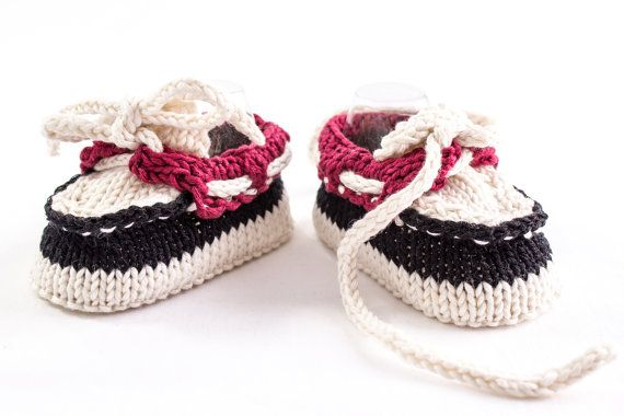 KNITTING PATTERN Baby Boat Shoes Baby Boy Booties di heaventoseven