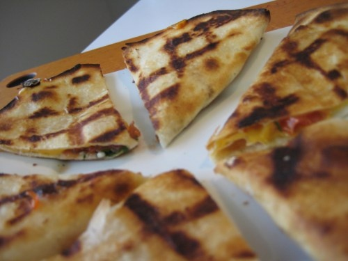 ... like this: black bean quesadilla , taco bells and cheese quesadillas