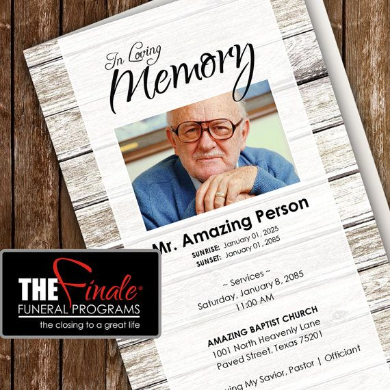 36 best Funeral Program Templates images on Pinterest Microsoft - funeral flyer template