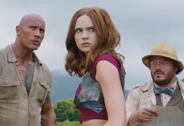 Another Jumanji Trailer Tease Shows Off Exciting Action   Another Jumanji trailer tease shows off exciting action  Another quick trailer tease (this time with more actual movie footage) has been revealed forthe upcoming sequelJumanji: Welcome to the Jungle with the full trailer hitting on Thursday. Check out the newJumanjitrailer tease below!  RELATED: Watch a Quick Jumanji Trailer Tease  In a brand new Jumanji adventure the tables are turned as four teenagers are sucked into Jumanjis world…