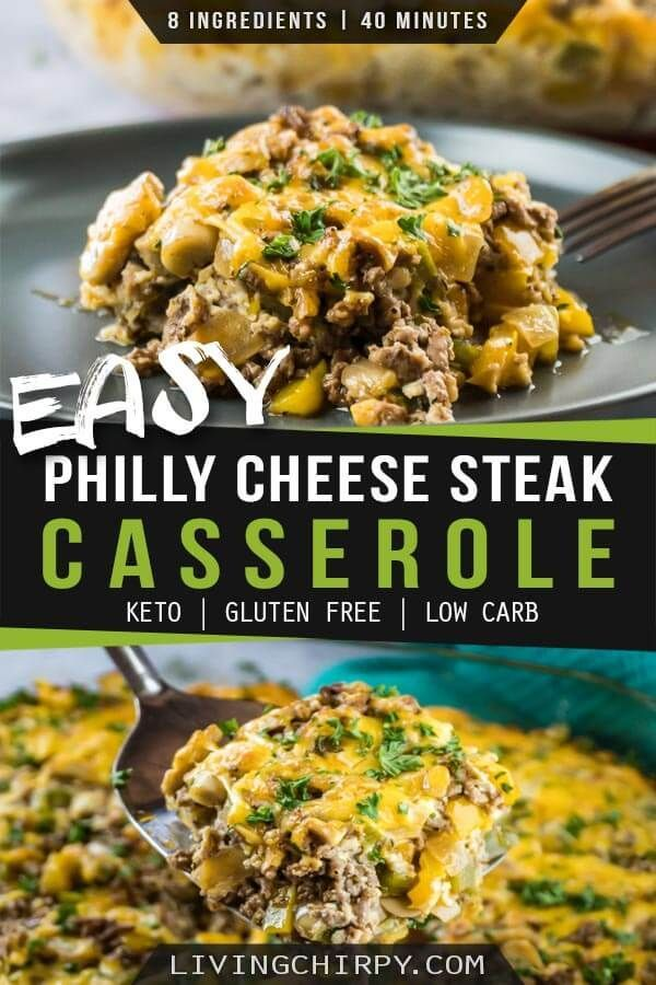 This Is A Quick Easy And Healthy Recipe For Philly Cheese Steak Casserole With Ground Healthy Beef Recipes Ground Beef Recipes For Dinner Healthy Ground Beef