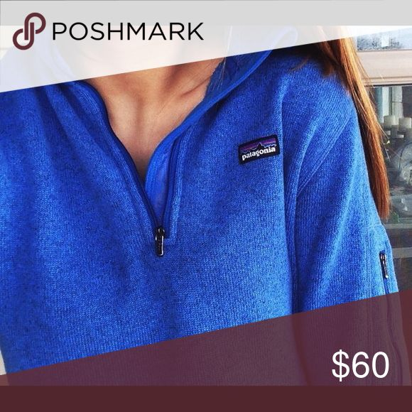 ISO Blue Patagonia better sweater 1/4 zip! Looking to buy a quarter zip better sweater in this blue--do not have one for sale, just looking to buy! Patagonia Other