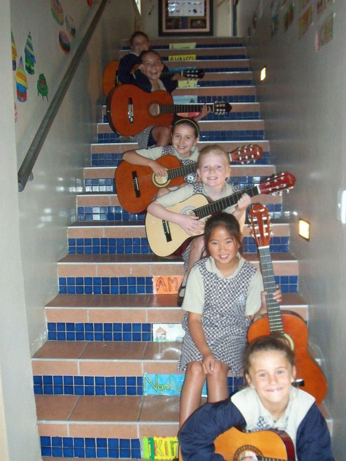 Elkanah House's first ever girls'  guitar ensemble
