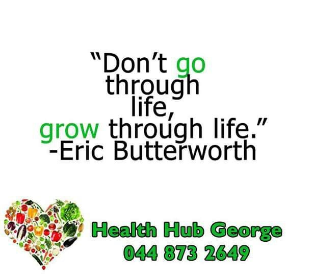 """Don't  go through life, grow through life."" -Eric Butterworth #SundayMotivation #HealthHub"