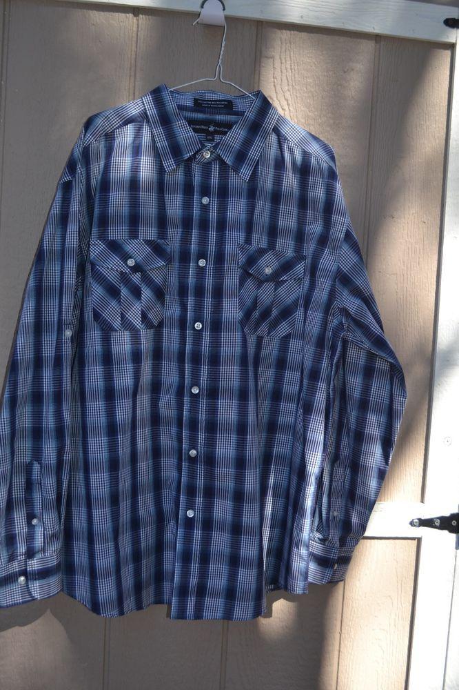 Beverly Hills Polo Club Men's Plaid Button Down Shirt Size XXL ...