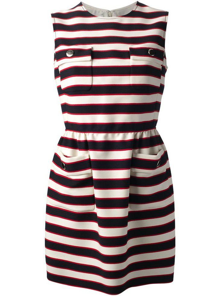 Blue Striped Shift Dress