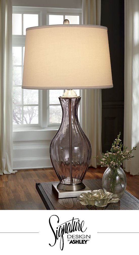Shanita table lamp gray signature design by ashley light grey