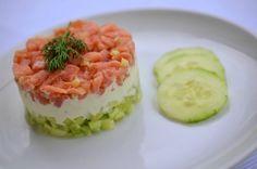 Rezept für Gurken-Lachs-Tartar mit Wasabicreme - Foto 5