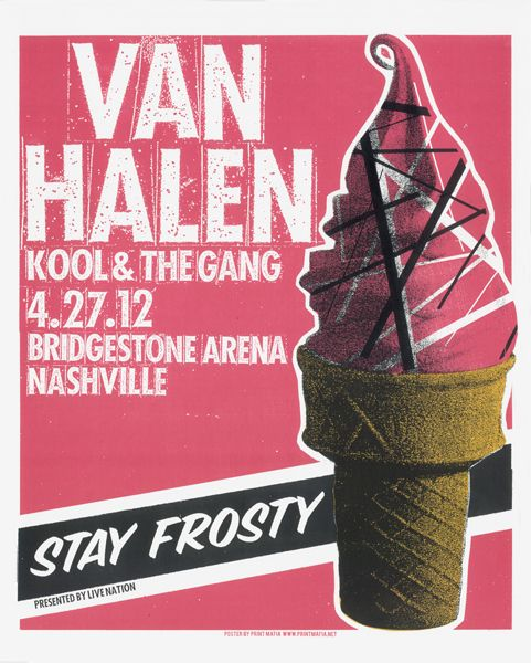 van halen: Design Inspiration, Halen Screenprint, Pick Up Vans, Van Halen, Posters Art, Prints Mafia, Screenprint 16X20, Concerts Posters, Halen 16X20