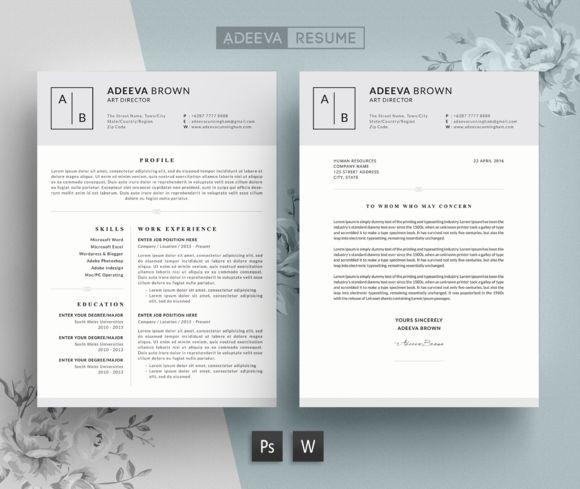 Simple Resume Template Brown by AdeevaResume on @creativemarket