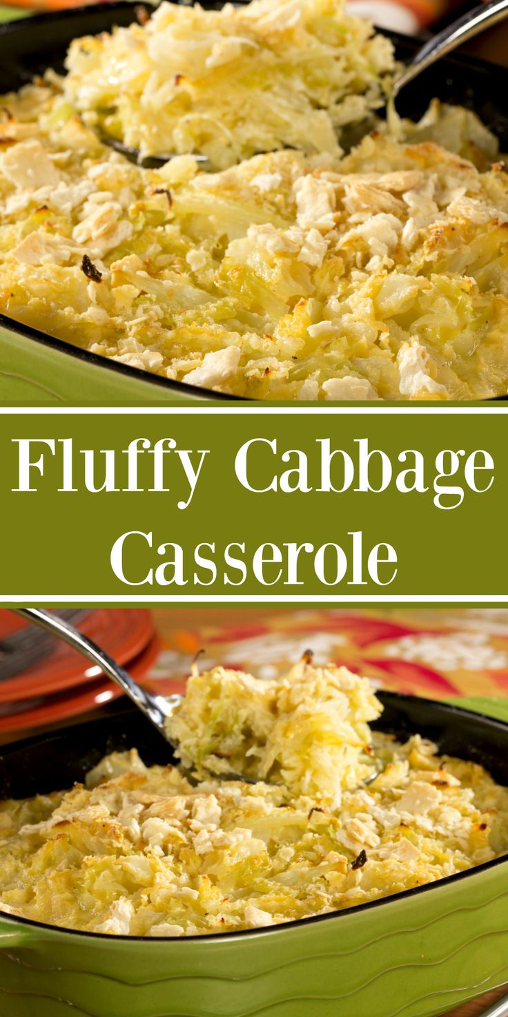 Our Fluffy Cabbage Casserole makes the perfect good luck-side dish to ring in the New Year!