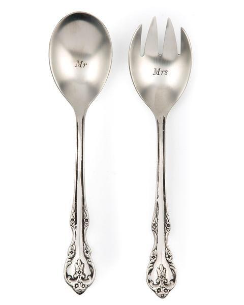 Mr. and Mrs. Serving Utensil Set