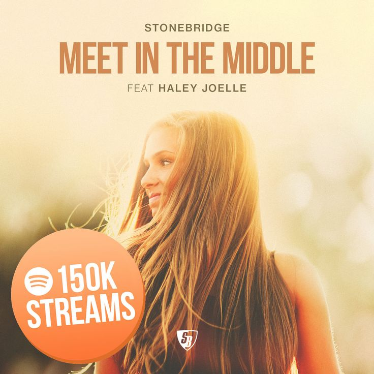 MEET IN THE MIDDLE (StoneBridge Mix) just hit 150K streams on Spotify - thanks for the love :-) http://smarturl.it/MITMstores #stonebridge #haleyjoelle #MITM #stoneyboymusic #house