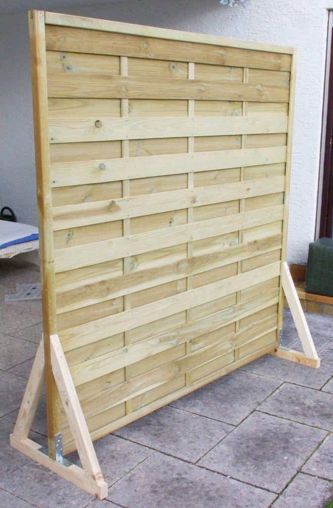 Sichtschutz Paravent Garten Balkon selber bauen Anleitung DIY fertig ohne Farbe