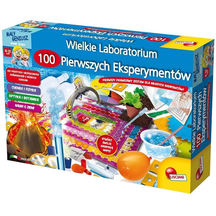 Lisciani, Mały Geniusz, Wielkie laboratorium, zestaw naukowy