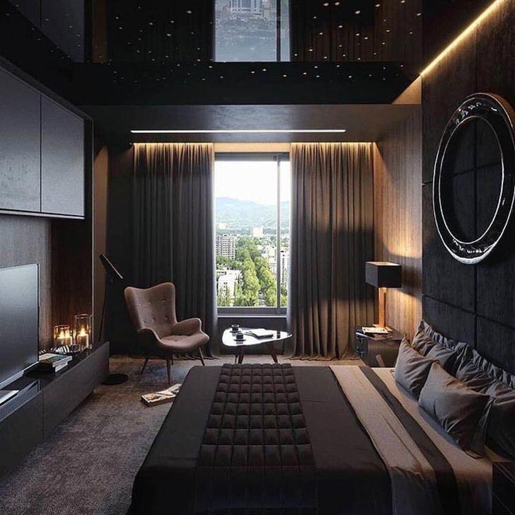 30 Cozy Single Bedroom Design Ideas For Men Bedroomdiyideas Luxe Bedroom Luxurious Bedrooms Luxury Bedroom Master