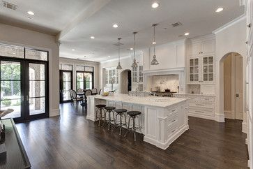 Beautiful white kitchen. I love the space.